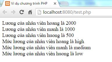 Mảng liên hợp trong PHP