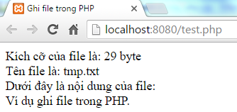 Ghi file trong PHP