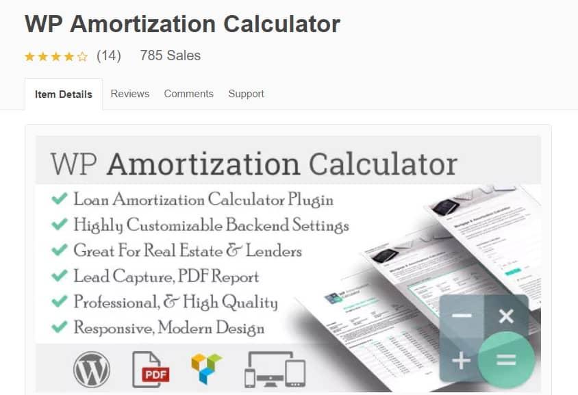 wp amortization calculator WordPress real estate plugin