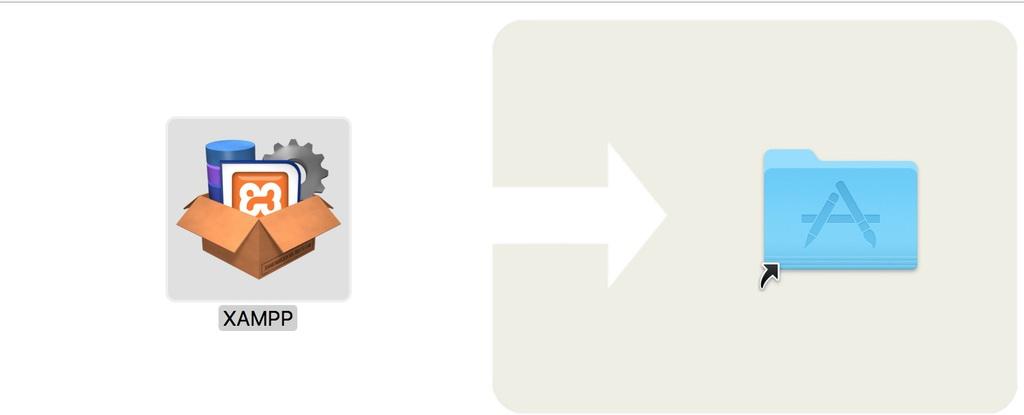 kéo XAMPP vào thư mục Applications