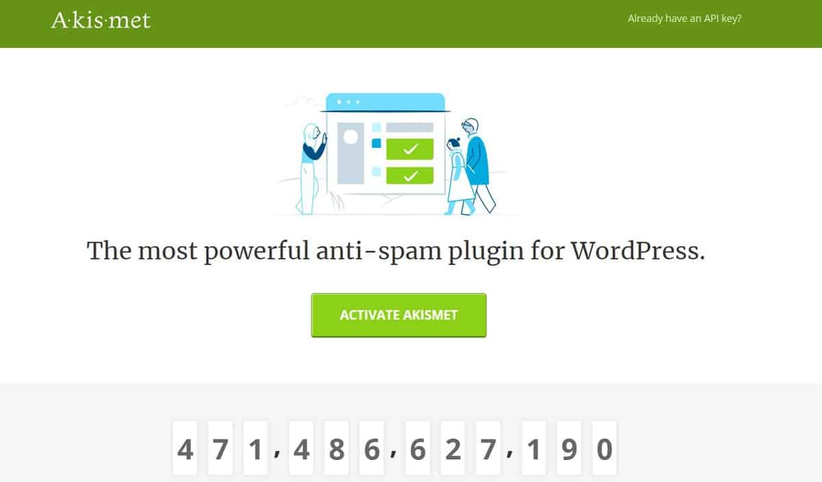 akismet là plugin comment WordPress tốt