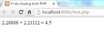 Kiểu Double trong PHP