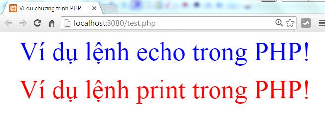 Lệnh print và lệnh echo trong PHP