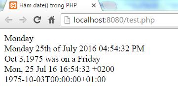 Lấy Time Stamp với hàm time() trong PHP