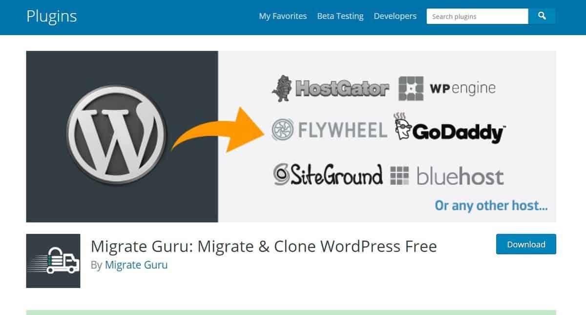 trang Migrate Guru WordPress