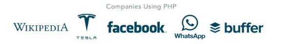 Các công ty sử dụng PHP