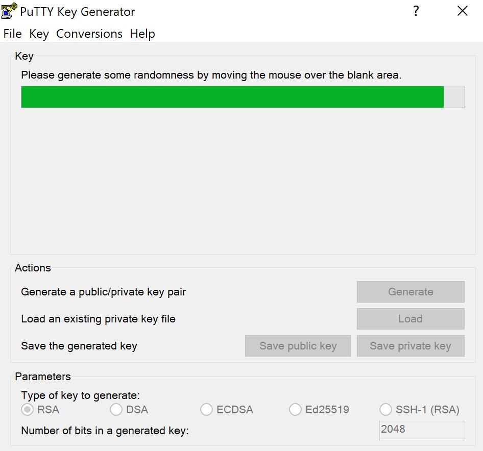hướng dẫn sử dụng PuTTY Gen để tạo khóa public/private key