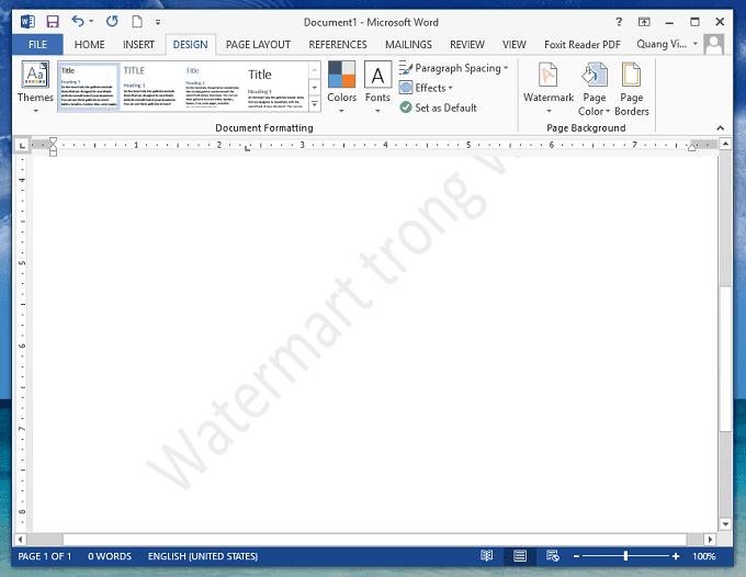 chèn, xóa, định dạng Watermark (đóng dấu) trong Word