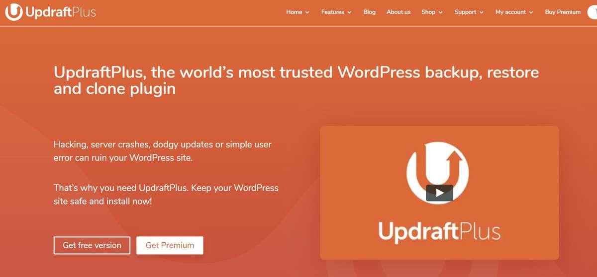 WordPress migration plugin UpdraftPlus trang chủ