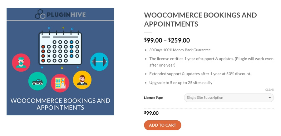 woocommerce bookings appoinments