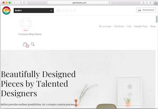 WordPress theme ecommerce bellini