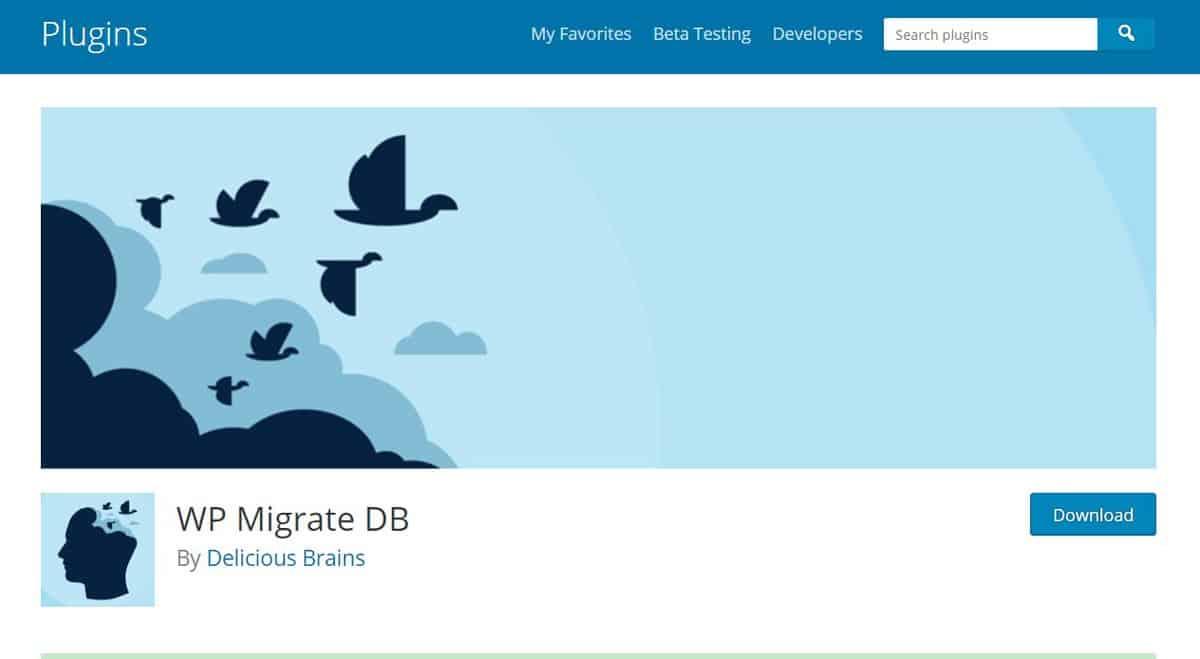WordPress migration plugin WP Migrate DB