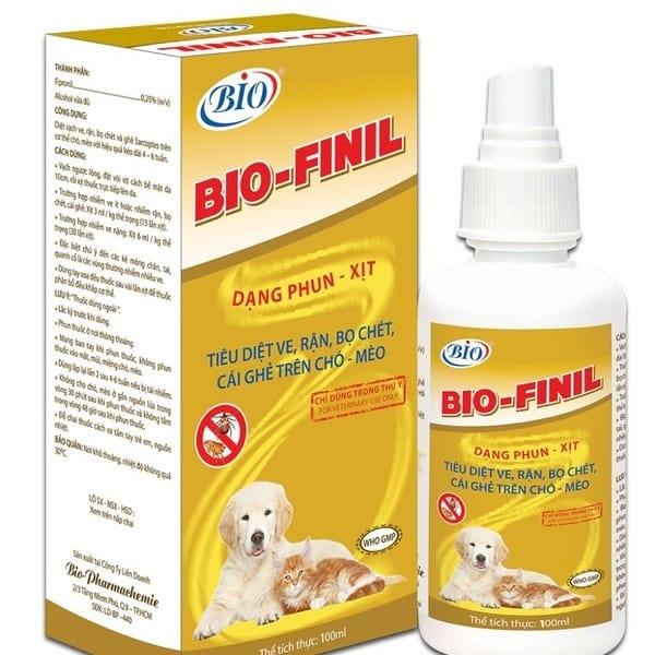 Thuốc trị bọ chét chó BIO FINIL