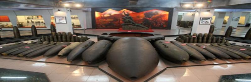 Hiện vật trong bảo tàng Công binh